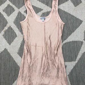 Express pink w/ rose gold sequins tank top